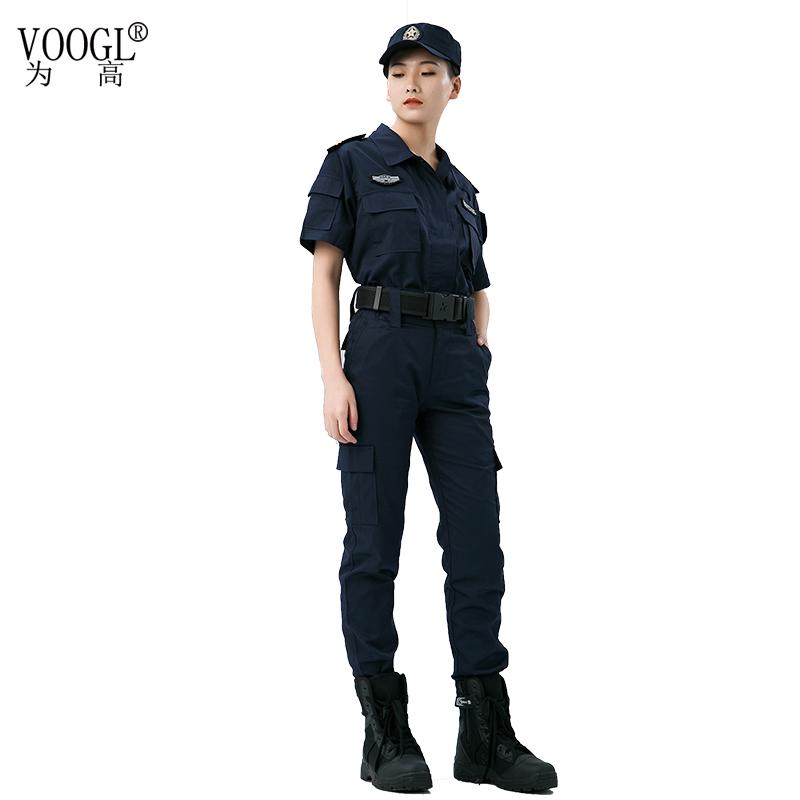 女款短袖保安制服